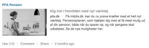 Screenshot PFA Pension