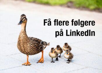 Sådan får du flere følgere på din LinkedIn virksomhedsside (en overset taktik)